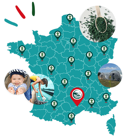 Carte des spiruliniers de France